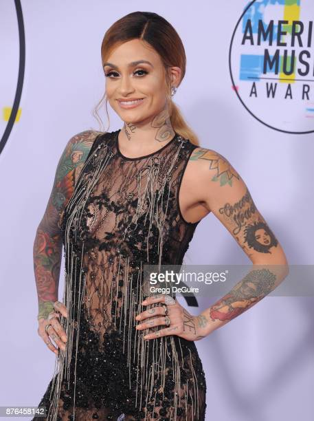 Kehlani arrives at the 2017 American Music Awards at Microsoft Theater on November 19 2017 in Los Angeles California