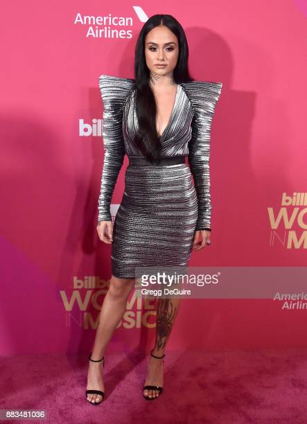 Kehlani arrives at the Billboard Women In Music 2017 at The Ray Dolby Ballroom at Hollywood Highland Center on November 30 2017 in Hollywood...