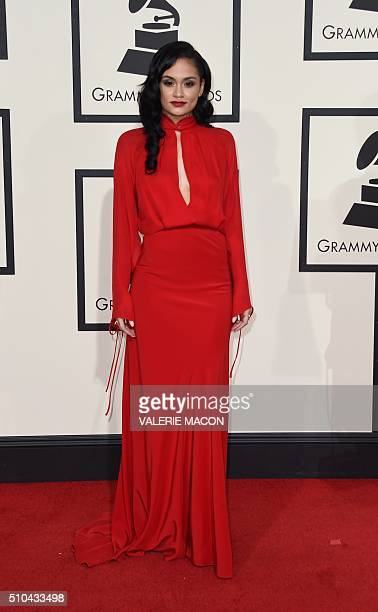 Kehlani arrives on the red carpet during the 58th Annual Grammy Music Awards in Los Angeles February 15 2016 AFP PHOTO/ Valerie MACON / AFP / VALERIE...