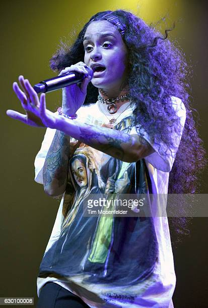 Kehlani performs during her Kehlani Friends holiday concert at the Fox Theater on December 15 2016 in Oakland California