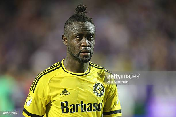 Kei Kamara of Columbus Crew SC is seen on the pitch during a MLS soccer match between the Columbus Crew SC and the Orlando City SC at the Orlando...