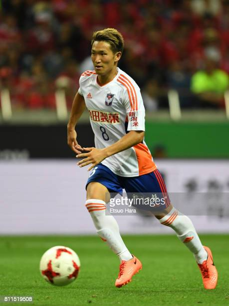 Kei Koizumi of Albirex Niigata in action during the JLeague J1 match between Urawa Red Diamonds and Albirex Niigata at Saitama Stadium on July 9 2017...