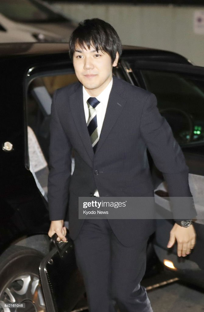 Kei Komuro returns home in Yokohama, south of Tokyo, on Sept. 3, 2017, after attending events including a news conference following an announcement by the Imperial Household Agency on his engagement to Princess Maka, the eldest granddaughter of Emperor Akihito and Empress Michiko. ==Kyodo