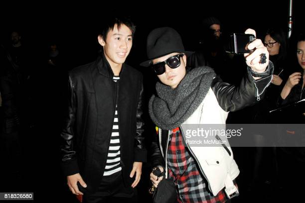 Kei Nishikori and VERBAL attend ADIDAS Y3 Fall/Winter 2010 Collection at Park Avenue Armory on February 14 2010 in New York City