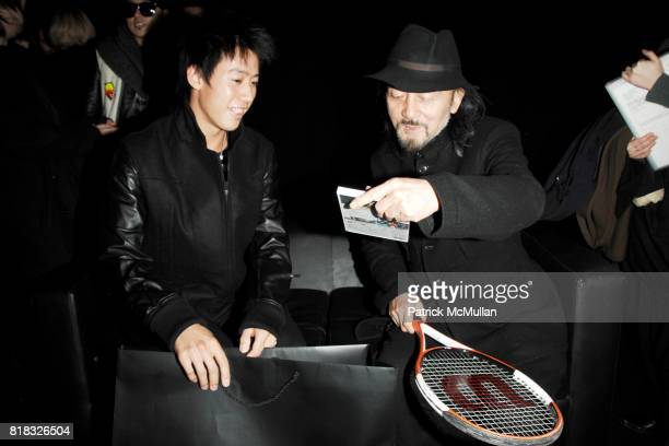 Kei Nishikori and Yohji Yamamoto attend ADIDAS Y3 Fall/Winter 2010 Collection at Park Avenue Armory on February 14 2010 in New York City