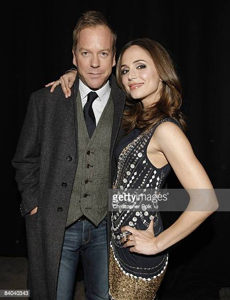 Keifer Sutherland and Eliza Dushku backstage during Spike TV's 2008 'Video Game Awards' at Sony Studios in Culver City CA on December 14 2008