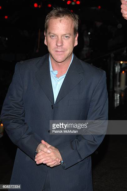 Keifer Sutherland attends SIR ELTON JOHN 60TH BIRTHDAY PARTY ARRIVALS at St John The Divine on March 22 2007 in New York City
