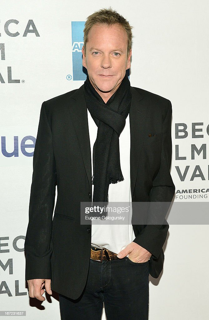 Keifer Sutherland attends the screening of 'The Reluctant Fundamentalist' during the 2013 Tribeca Film Festival at BMCC Tribeca PAC on April 22 2013...