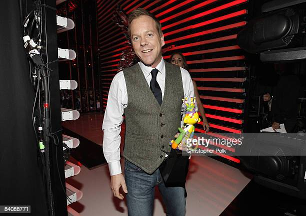 Keifer Sutherland backstage during Spike TV's 2008 'Video Game Awards' at Sony Studios in Culver City CA on December 14 2008