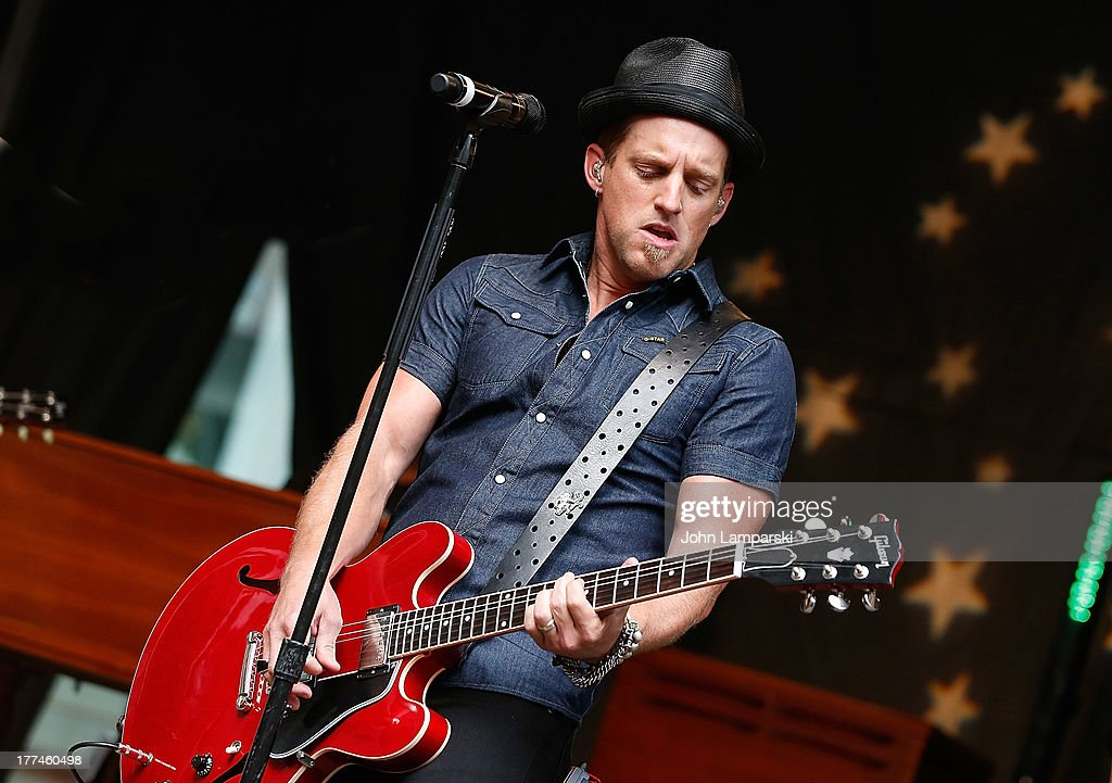 Keifer Thompson of Thompson Square performs during 'FOX Friends' All American Concert Series outside of FOX Studios on August 23 2013 in New York City