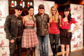 Keifer Thompson Shawna Thompson Jerrod Niemann Danelle Leverett and Susie Brown attend the 2011 CMA Awards nominations at the Ryman Auditorium on...