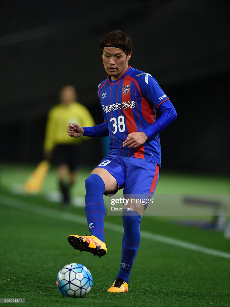 <a gi-track='captionPersonalityLinkClicked' href=/galleries/search?phrase=Keigo+Higashi&family=editorial&specificpeople=7323461 ng-click='$event.stopPropagation()'>Keigo Higashi</a> of FC Tokyo in action during the AFC Champions League playoff round match between FC Tokyo and Chonburi FC at the Tokyo Stadium on February 9, 2016 in Chofu, Japan.