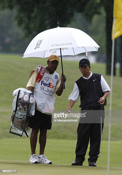 Keiichiro Fukabori competes in secondround play at the FedEx St Jude Classic May 28 2004 at the Tournament Players Club Southwind Memphis Tennessee