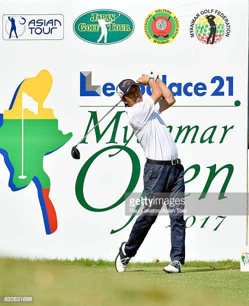 Keiichiro Fukabori of Japan plays during the ProAm event ahead of the Leopalace21 Myanmar Open at Pun Hlaing Golf Club on January 25 2017 in Yangon...