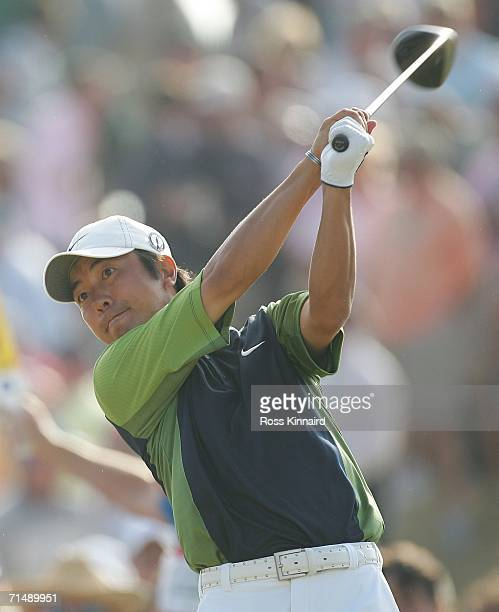 Keiichiro Fukabori of Japan tees off during the first round of The Open Championship at Royal Liverpool Golf Club on July 20 2006 in Hoylake England