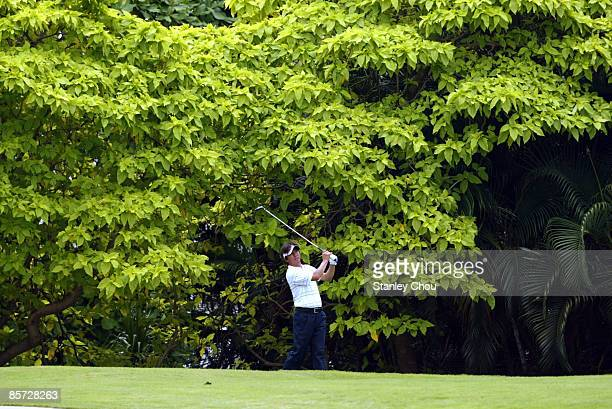 Keiichiro Fukabori of Japan tees off on the 17th hole during Day One of The Open International Final Qualifying for Asia held on March 31 2009 at the...