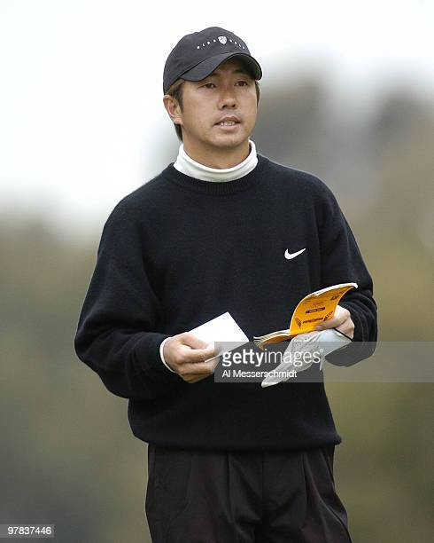 Keiichiro Fukabori tees off at Torrey Pines Golf Course site of the Buick Invitational third round February 14 2004