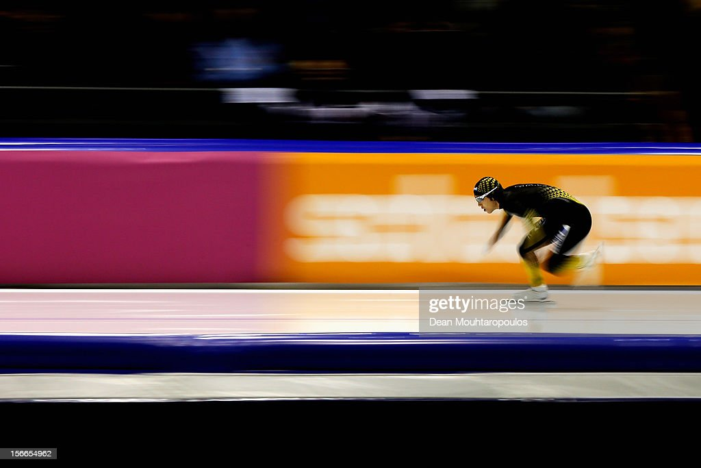 <a gi-track='captionPersonalityLinkClicked' href=/galleries/search?phrase=Keiichiro+Nagashima&family=editorial&specificpeople=818808 ng-click='$event.stopPropagation()'>Keiichiro Nagashima</a> of Japan competes in the Division A 500m race on the final day of the Essent ISU World Cup Speed Skating at Thialf Ice Stadium on November 18, 2012 in Heerenveen, Netherlands.