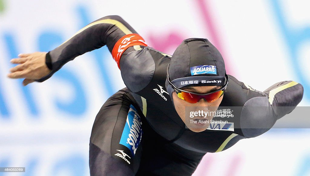 Keiichiro Nagashima of Japan competes in the second round of men's 500m during Essent ISU World Sprint Speed Skating Championships 2014 at M Wave on January 19, 2014 in Nagano, Japan.