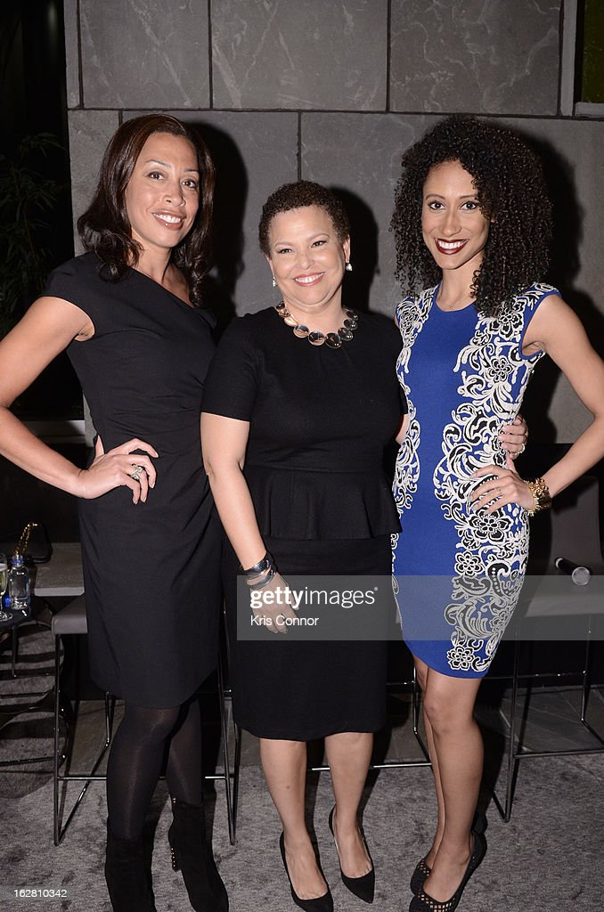 Keija Minor, Debra Lee and Elaine Welteroth pose for a photo during the Leading Women Defined: First Ladies Reception on February 27, 2013 in Washington, DC.