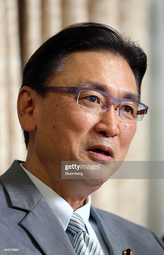 <a gi-track='captionPersonalityLinkClicked' href=/galleries/search?phrase=Keiji+Furuya&family=editorial&specificpeople=10094135 ng-click='$event.stopPropagation()'>Keiji Furuya</a>, chairman of Japan's National Public Safety Commission, speaks during an interview in Tokyo, Japan, on Wednesday, Aug. 27, 2014. Japan is confident that some of the more than a dozen citizens abducted by North Korean agents over three decades ago are alive, and is counting on Kim Jong Un's resolve to return them, said Furuya, the minister in charge of the issue. Photographer: Junko Kimura-Matsumoto/Bloomberg via Getty Images