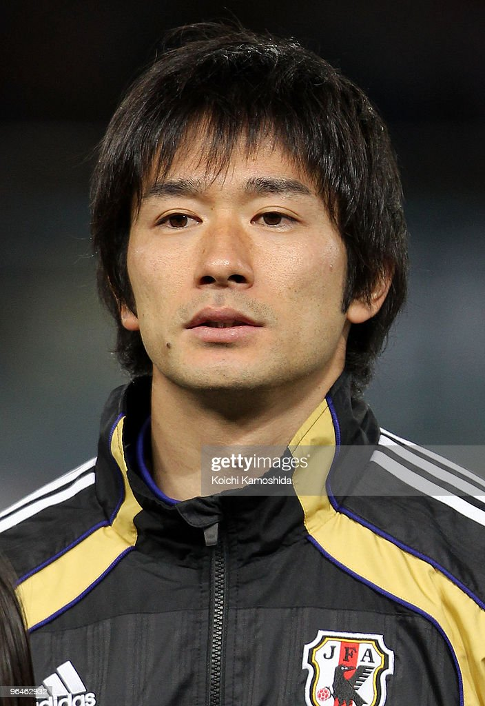 Keiji Tamada of Japan looks on prior to playing the East Asian Football Championship 2010 match between Japan and China at Ajinomoto Stadium on February 6, 2010 in Tokyo, Japan.
