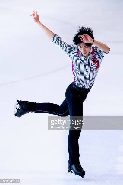 Keiji Tanaka of Japan competes in Senior Men group during the Asian Open Figure Skating Trophy 2017 on August 05 2017 in Hong Kong Hong Kong