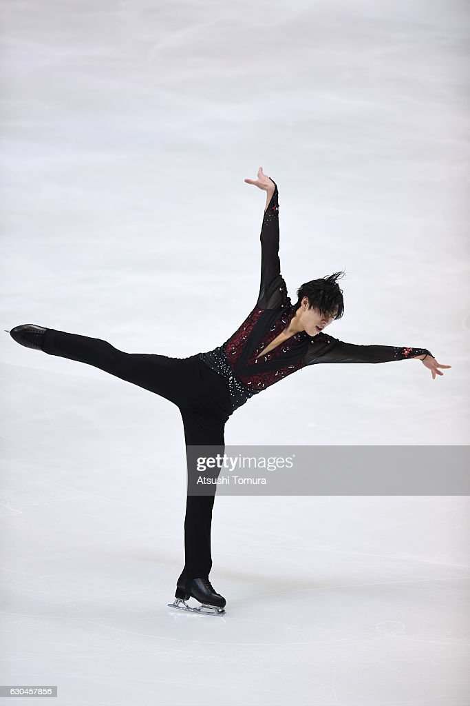 Keiji Tanaka of Japan competes in the Men short program during the Japan Figure Skating Championships 2016 on December 23, 2016 in Kadoma, Japan.