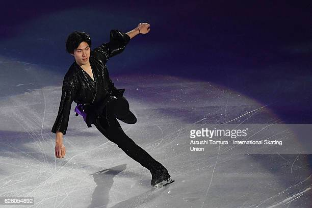 Keiji Tanaka of Japan performs in the gala exhibition during the ISU Grand Prix of Figure Skating NHK Trophy on November 27 2016 in Sapporo Japan