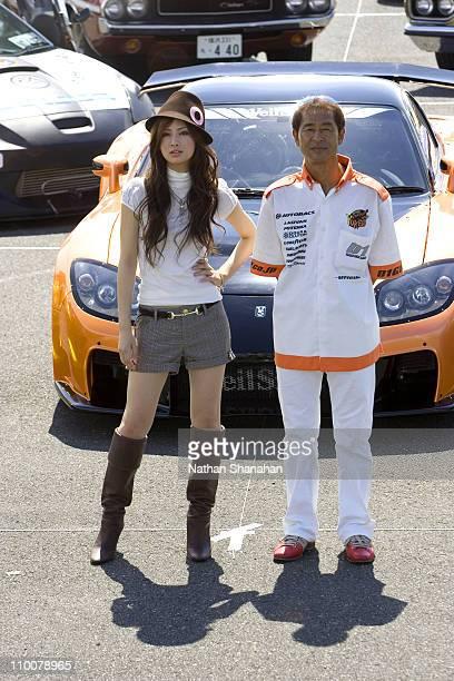 Keiko Kitagawa and Keiichi Tsuchiya during 'The Fast and the Furious Tokyo Drift ' Tokyo Photocall at Harumi Kyakusen Terminal in Tokyo Japan