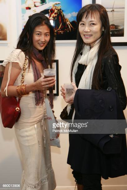 Keiko Shimizu and Ria Shibayama attend NEW YORK PHOTO FESTIVAL Curator's Reception at powerHouse Arena on May 13 2009 in New York City