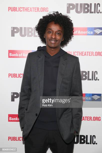 Keinan Abdi aka K'naan attends the opening night celebration of 'Tiny Beautiful Things' at The Public Theater on October 2 2017 in New York City