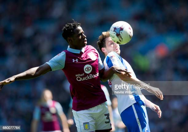 Keinan Davis of Aston Villa during the Sky Bet Championship match between Aston Villa and Brighton Hove Albion at Villa Park on May 07 2017 in...