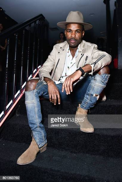 Keino Benjamin attends The Dom Perignon Vintage Trinity Launch Party at 17 Irving Place on June 22 2017 in New York City