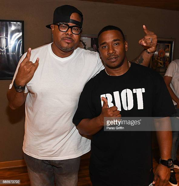 Keinon Johnson and producer Kawan 'KP' Prather attend 'SremmLife 2' private listening session at TreeSound Studios on August 3 2016 in Norcross...