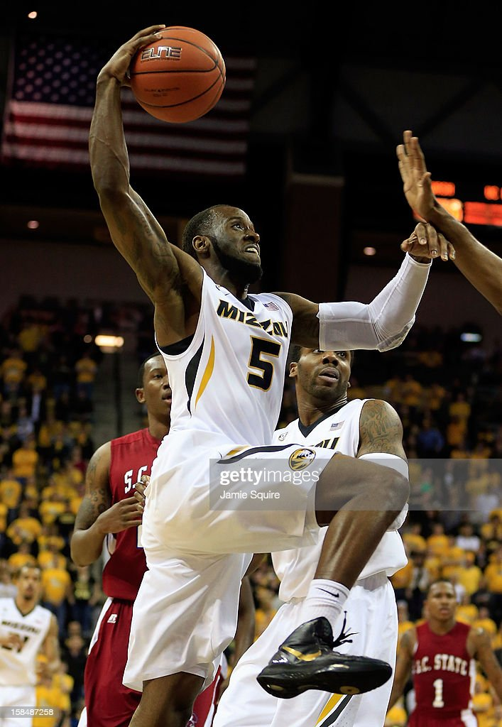 Keion Bell #5 of the Missouri Tigers drives during the game against the South Carolina State Bulldogs at Mizzou Arena on December 17, 2012 in Columbia, Missouri.