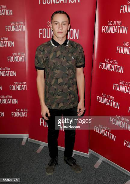 Keir Gilchrist attends SAGAFTRA Foundation's conversation and screening of 'Atypical' at SAGAFTRA Foundation Screening Room on November 15 2017 in...