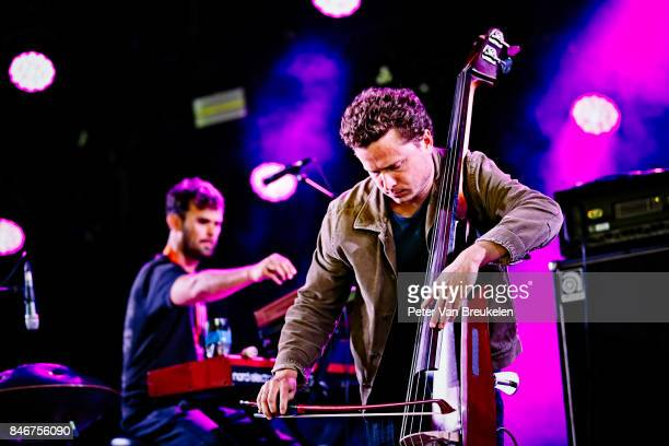 Keir Vine and Milo Fitzpatrick of Portico Quartet Perform at Jazz Middelheim Festival on August 04 2017 in Antwerp Belgium