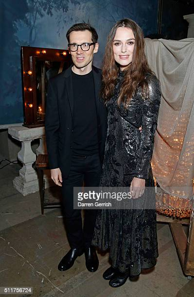 Keira Knightley and Erdem Moralõoglu attend the Erdem x Selfridges Wrap Party during London Fashion Week Autumn/Winter 2016/17 at on February 22 2016...