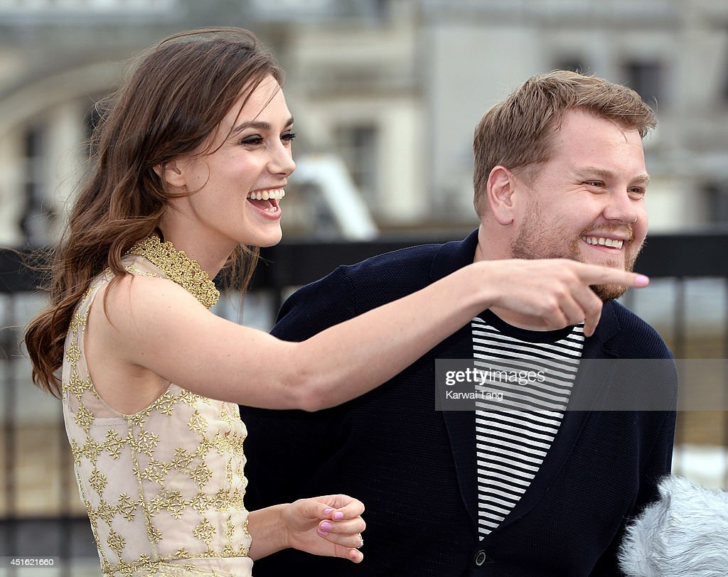 <a gi-track='captionPersonalityLinkClicked' href=/galleries/search?phrase=Keira+Knightley&family=editorial&specificpeople=202053 ng-click='$event.stopPropagation()'>Keira Knightley</a> and <a gi-track='captionPersonalityLinkClicked' href=/galleries/search?phrase=James+Corden&family=editorial&specificpeople=673860 ng-click='$event.stopPropagation()'>James Corden</a> attend a photocall for 'Begin Again' at Picturehouse Cinemas Ltd on July 2, 2014 in London, England.