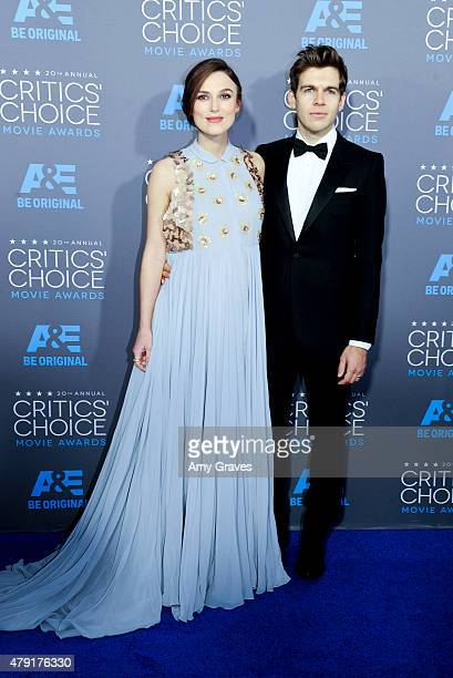 Keira Knightley and James Righton attend the 20th Annual Critics' Choice Movie Awards on January 15 2015 in Los Angeles California