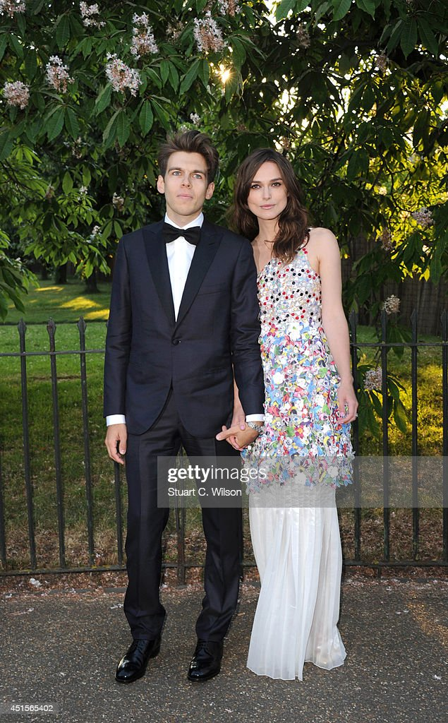 <a gi-track='captionPersonalityLinkClicked' href=/galleries/search?phrase=Keira+Knightley&family=editorial&specificpeople=202053 ng-click='$event.stopPropagation()'>Keira Knightley</a> and <a gi-track='captionPersonalityLinkClicked' href=/galleries/search?phrase=James+Righton&family=editorial&specificpeople=4174131 ng-click='$event.stopPropagation()'>James Righton</a> attend the annual Serpentine Galley Summer Party at The Serpentine Gallery on July 1, 2014 in London, England.