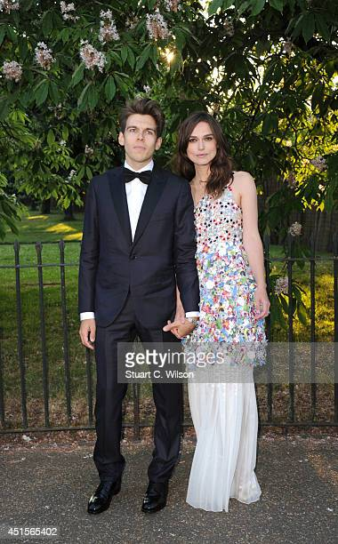 Keira Knightley and James Righton attend the annual Serpentine Galley Summer Party at The Serpentine Gallery on July 1 2014 in London England