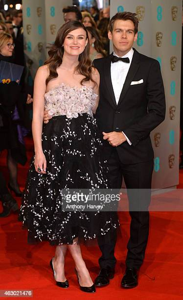 Keira Knightley and James Righton attend the EE British Academy Film Awards at The Royal Opera House on February 8 2015 in London England
