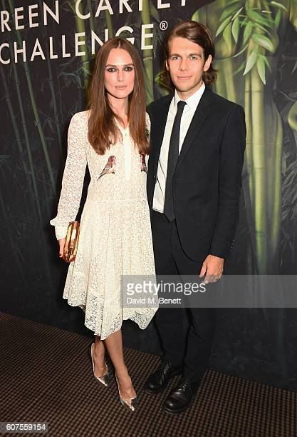 Keira Knightley and James Righton attend the Green Carpet Challenge 2016 BAFTA Night to Remember on September 18 2016 in London England
