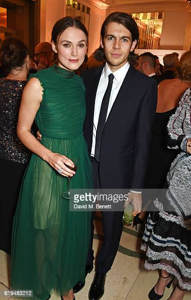 Keira Knightley and James Righton attend the Harper's Bazaar Women of the Year Awards 2016 at Claridge's Hotel on October 31 2016 in London England