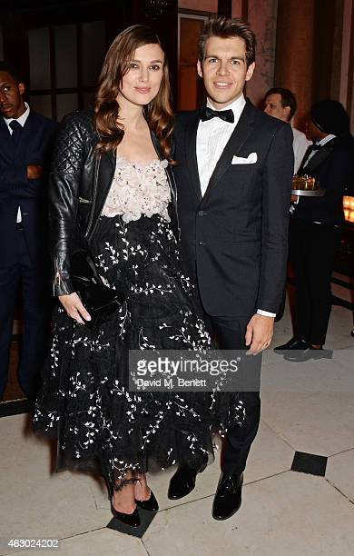 Keira Knightley and James Righton attend The Weinstein Company Entertainment Film Distributor StudioCanal 2015 BAFTA After Party in partnership with...