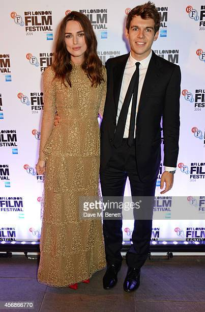 Keira Knightley and James Righton attends an after party following the Opening Night Gala Screening of 'The Imitation Game' during the 58th London...
