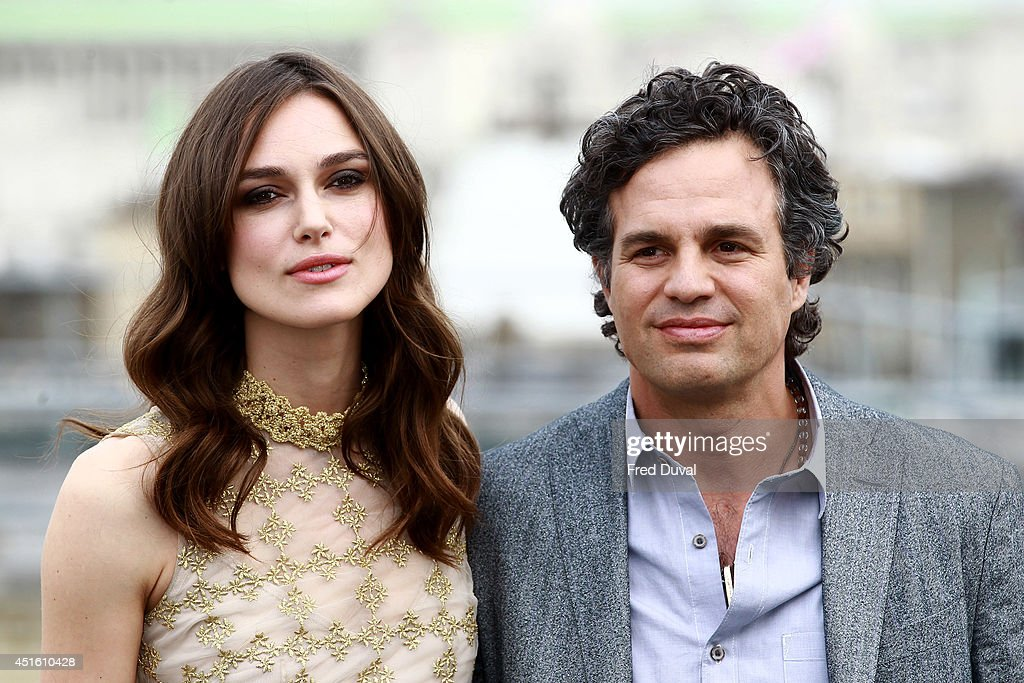 <a gi-track='captionPersonalityLinkClicked' href=/galleries/search?phrase=Keira+Knightley&family=editorial&specificpeople=202053 ng-click='$event.stopPropagation()'>Keira Knightley</a> and Mark Ruffalo attend a photocall for 'Begin Again' on July 2, 2014 in London, England.