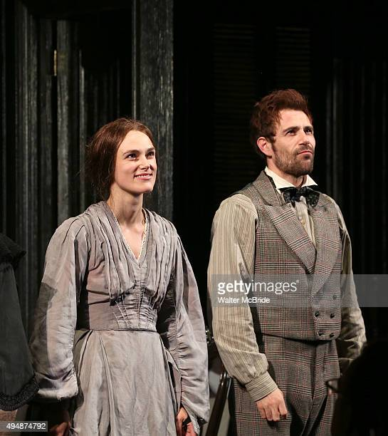 Keira Knightley and Matt Ryan during the Broadway Opening Night Performance Curtain Call bows for the Roundabout Theatre production of 'Therese...